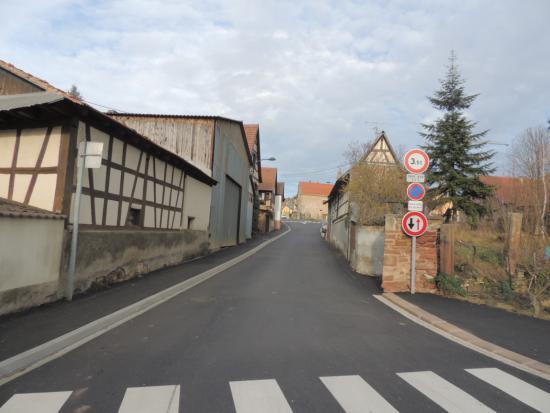 Travaux de réabilitation de la rue des Vignes