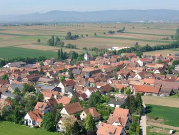 Breuschwickersheim vue aérienne