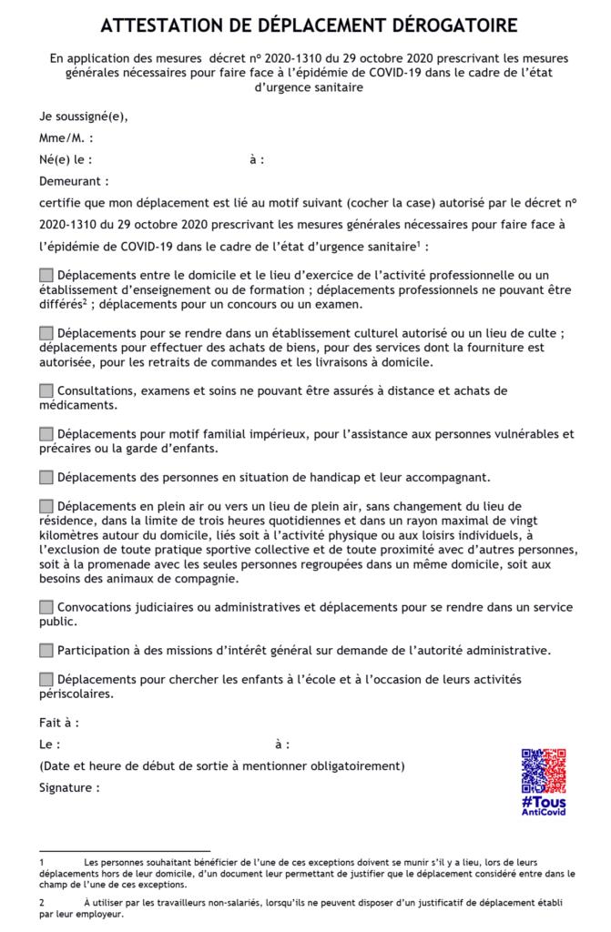 Les Etapes De La Sortie Progressive Du Confinement Et Nouvelle Attestation Du 28 Novembre 2020 Mairie De Breuschwickersheim Site Officiel De La Commune